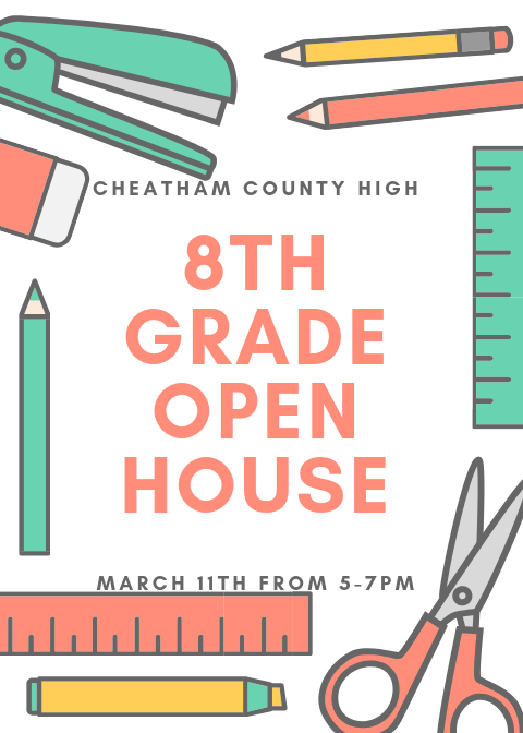 8th grade open house