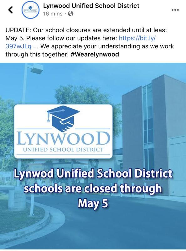 Wilson Elementary will be closed through May 5th. Featured Photo