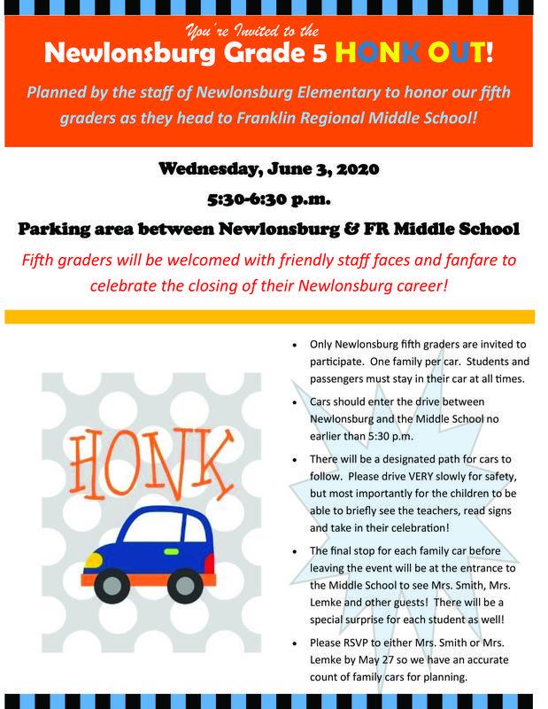 Newlonsburg Honk Out - June 3 - 5th Grade