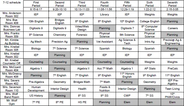2020-2021 Final Schedule