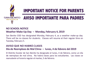 Important Notice for Parents