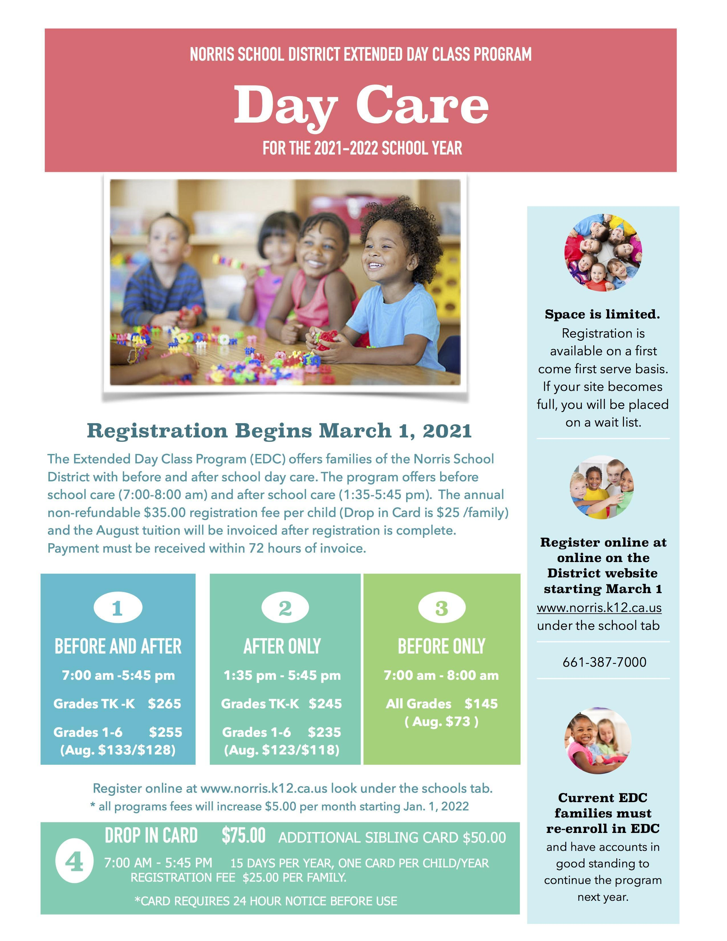 Fall 21/22 Day Care Information