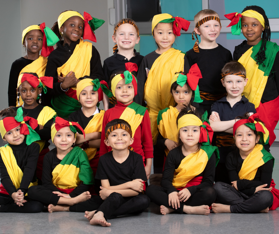 kids dressed in outfits from senegal