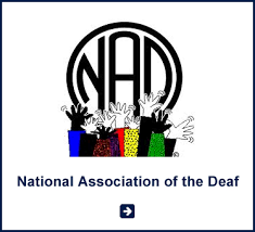 Logo for National Association of the Deaf