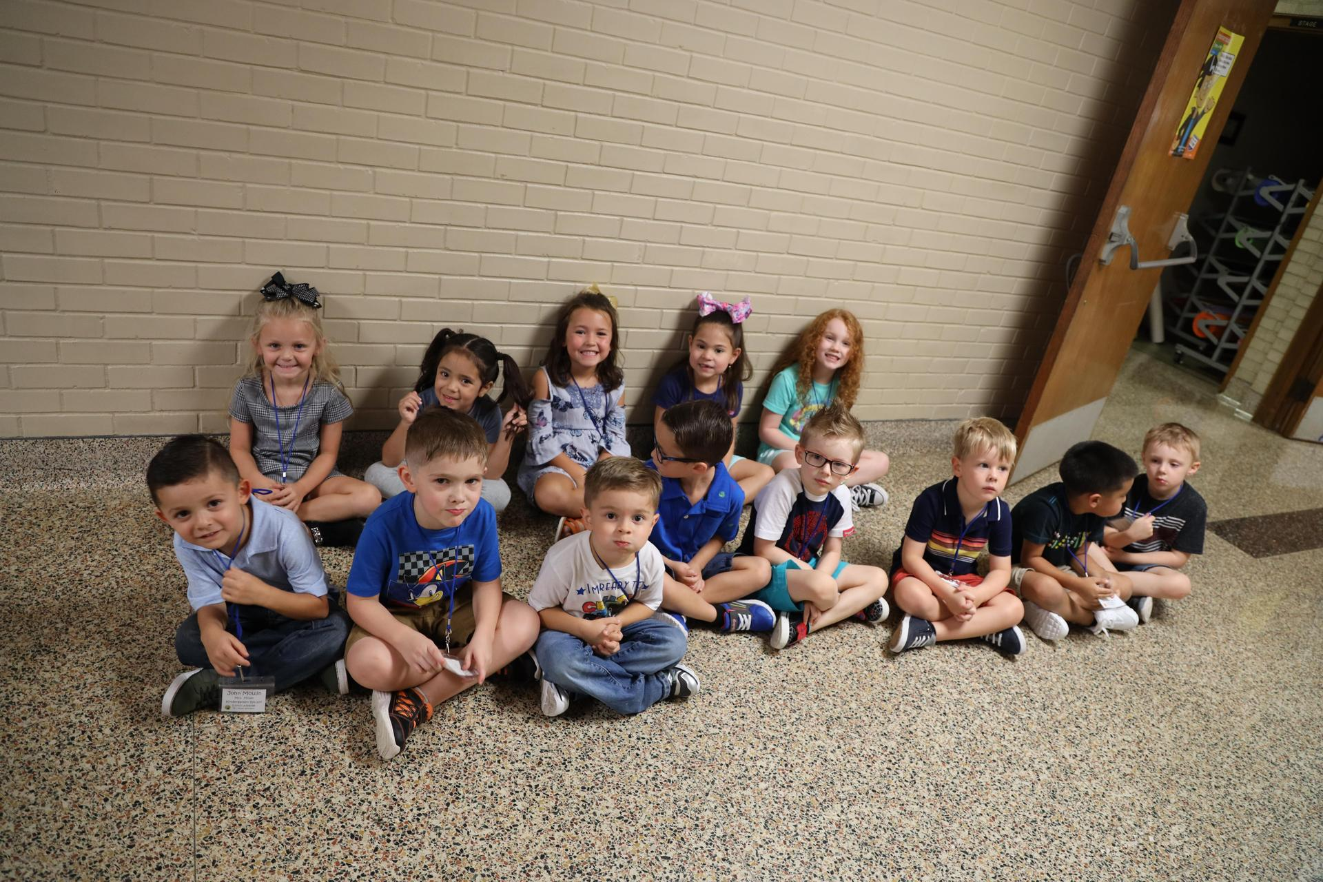 Carpenter Elementary students on the first day of school!