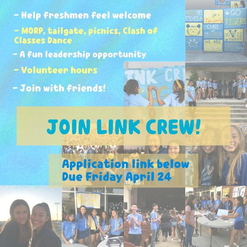 LINK CREW CLASS OF 2021 and 2022 CLICK FOR INFO!!! Thumbnail Image