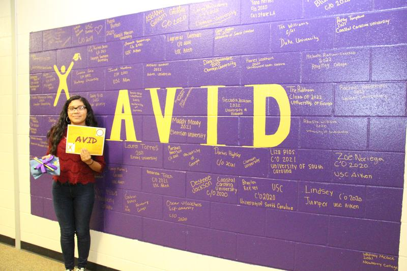 Anahi Villaseca-Torres, a ninth grade student at B-L High School, was recently selected as the winner of the school's AVID poster contest.