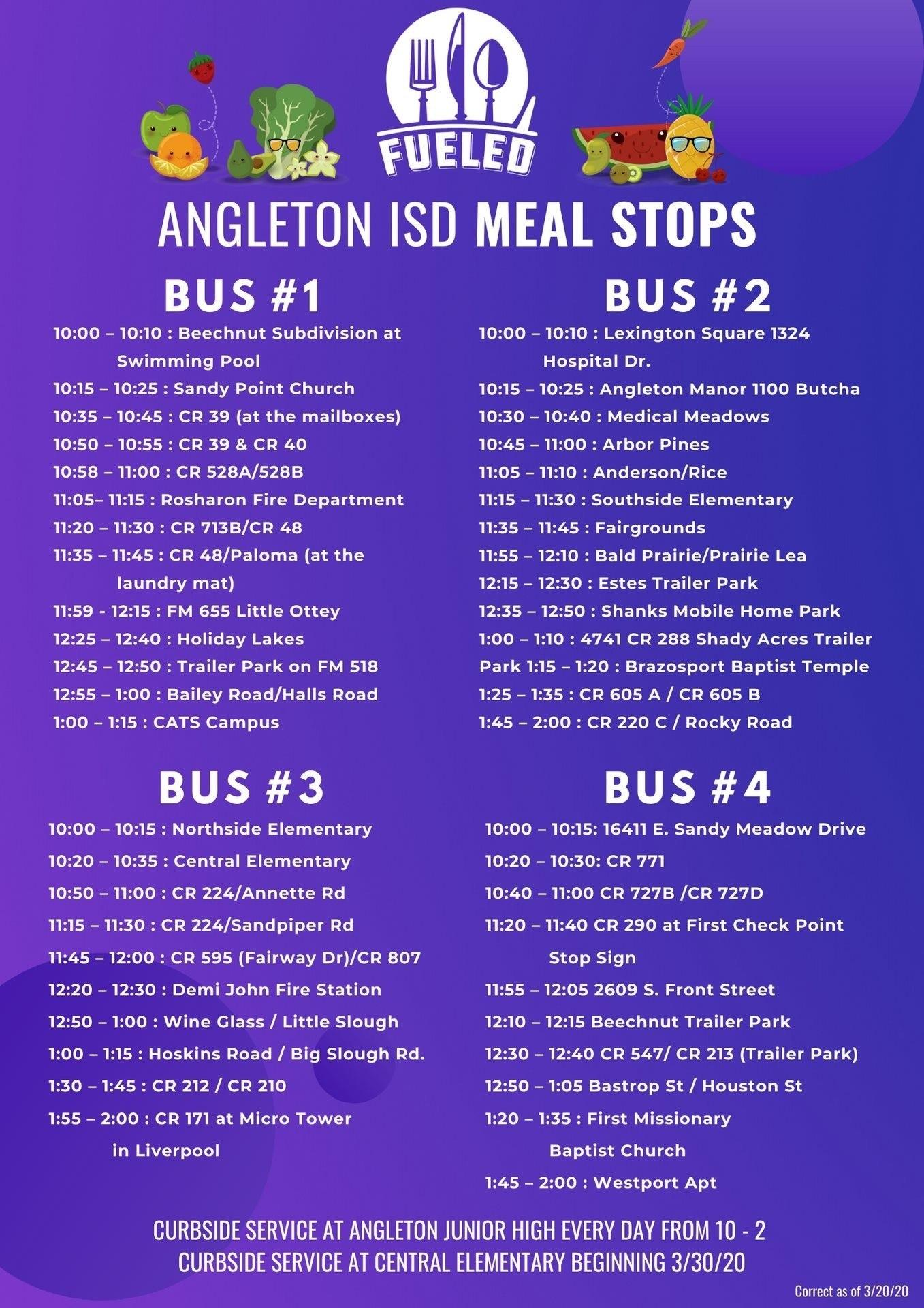 Angleton Bus Routs