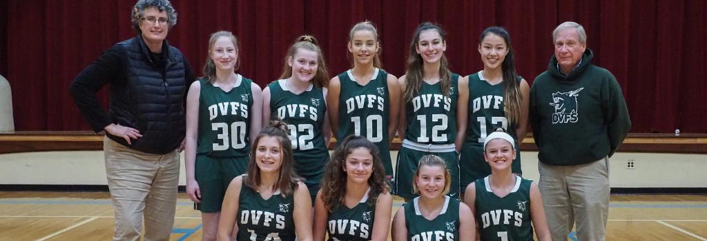 DVFriends Girls Varsity Basketball Team 2019-20