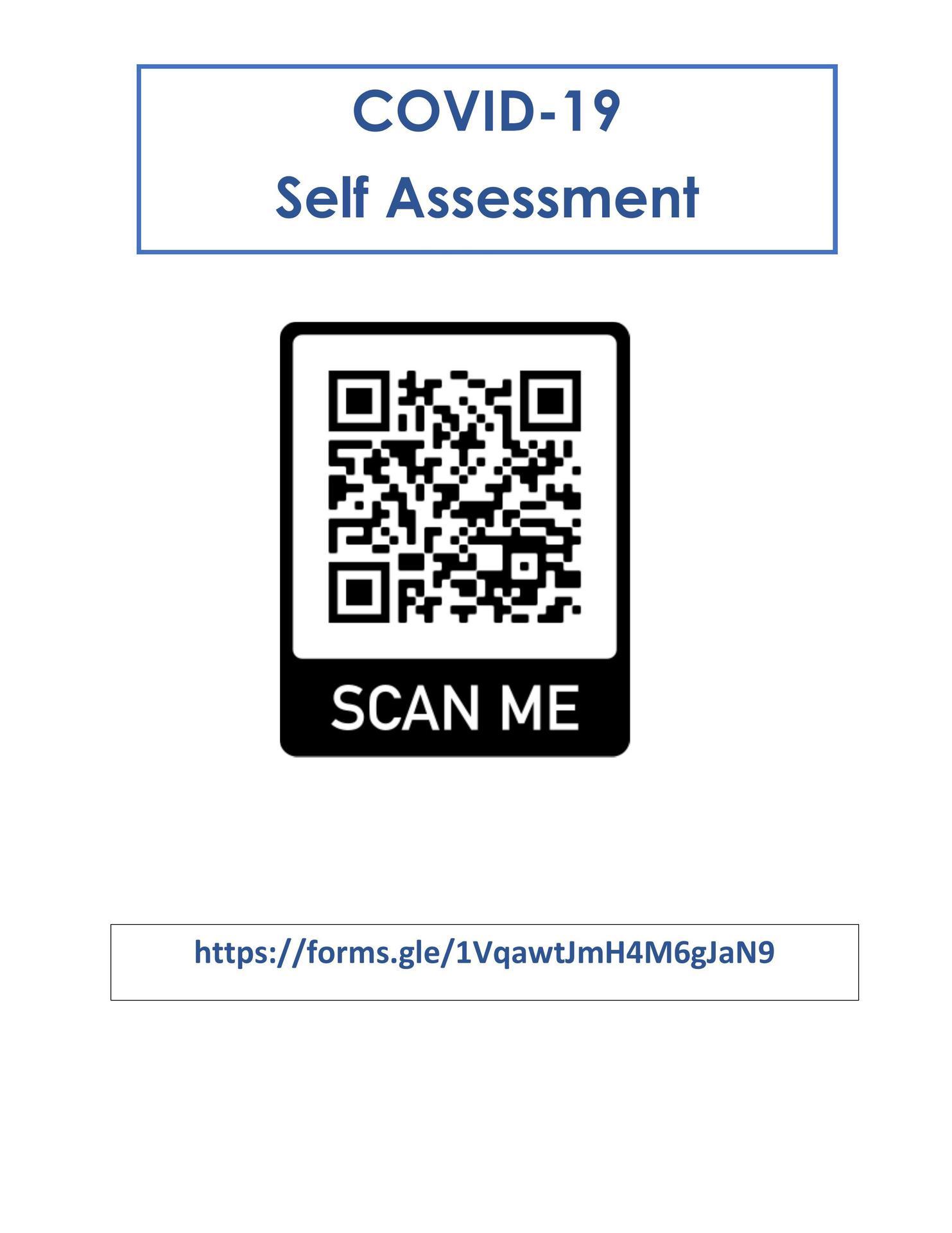 Covid-19 Self Assessment Form