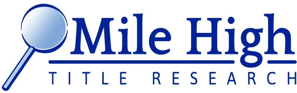 Mile High Title Research Logo