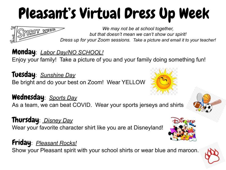 Virtual Dress Up Days!