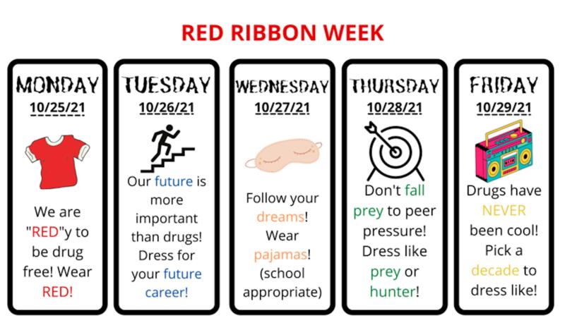 Red Ribbon Week Days