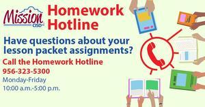 English homework hotline graphic