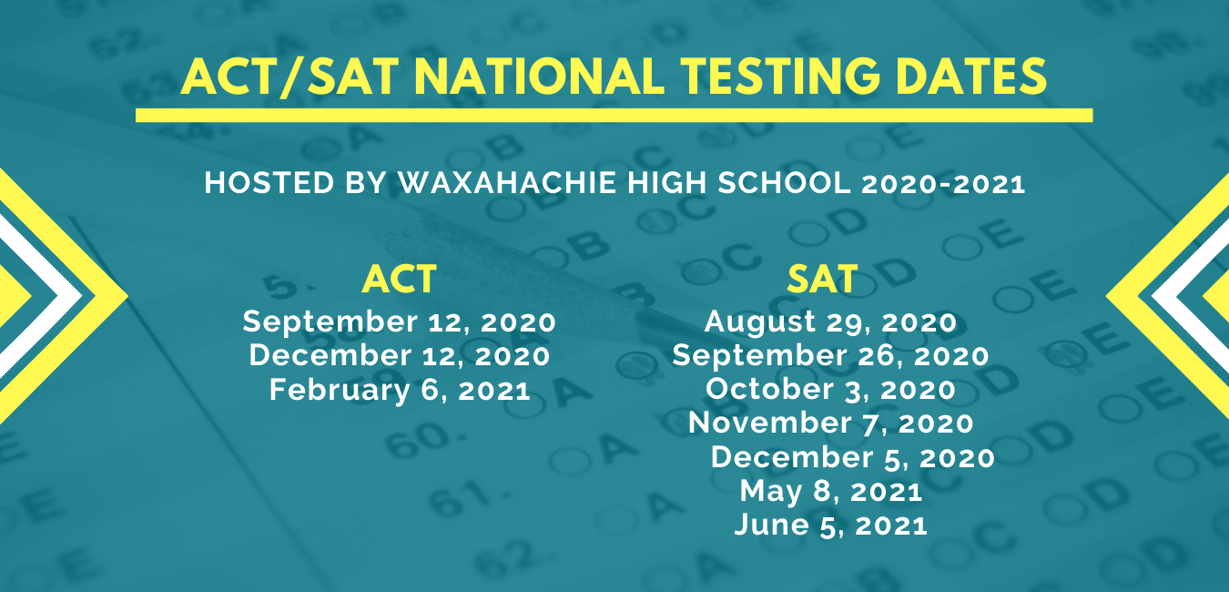 SAT and ACT 2020-2021 testing dates