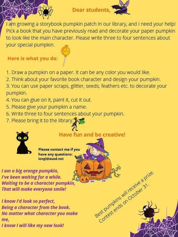 Paper Pumpkin Contest Poster