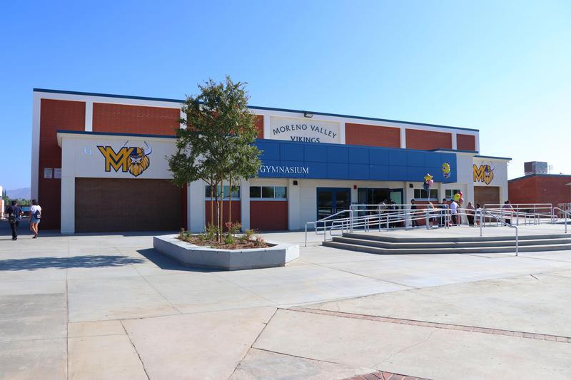 New gym at Moreno Valley High School