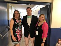 Superintendent Garrett and BOE member Moomaw visit
