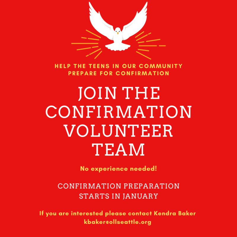 Join the Confirmation Volunteer Team! Featured Photo