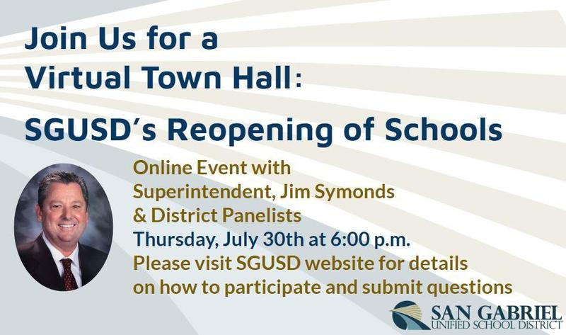 Join us for the SGUSD Virtual Town Hall