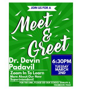 Superintendent Parent Meet and Greet at MSI