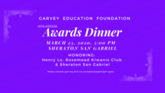 Support Garvey students by donating to or attending the Garvey Education Foundation Awards Gala on March 25, 2020