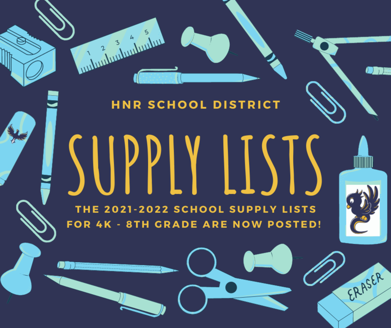 2021-2022 School Supply lists are now available! Featured Photo