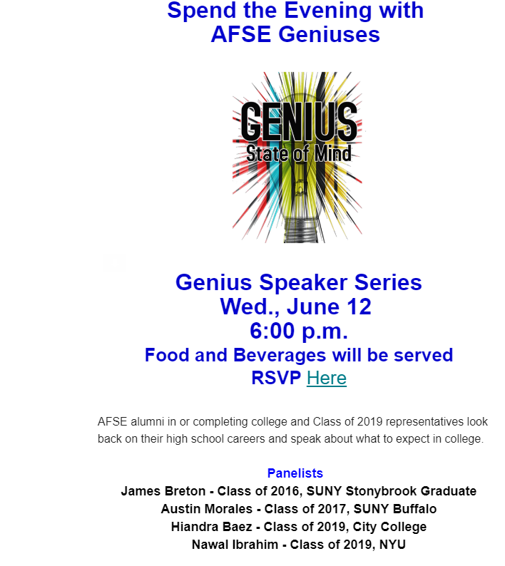 PTA Genius Speaker Series - June 12 Featured Photo