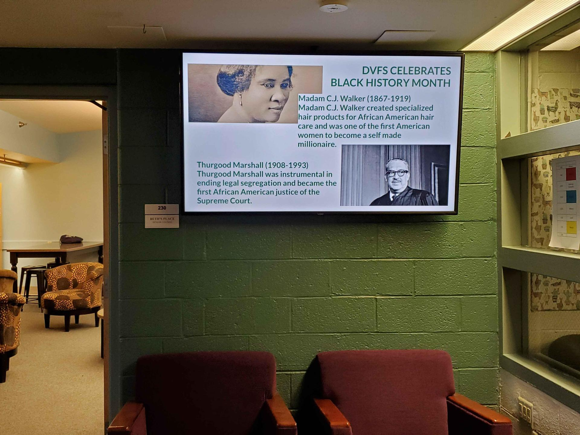Black History Month slides