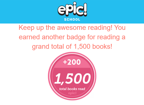 Ms. Green's class has read 1500 books!