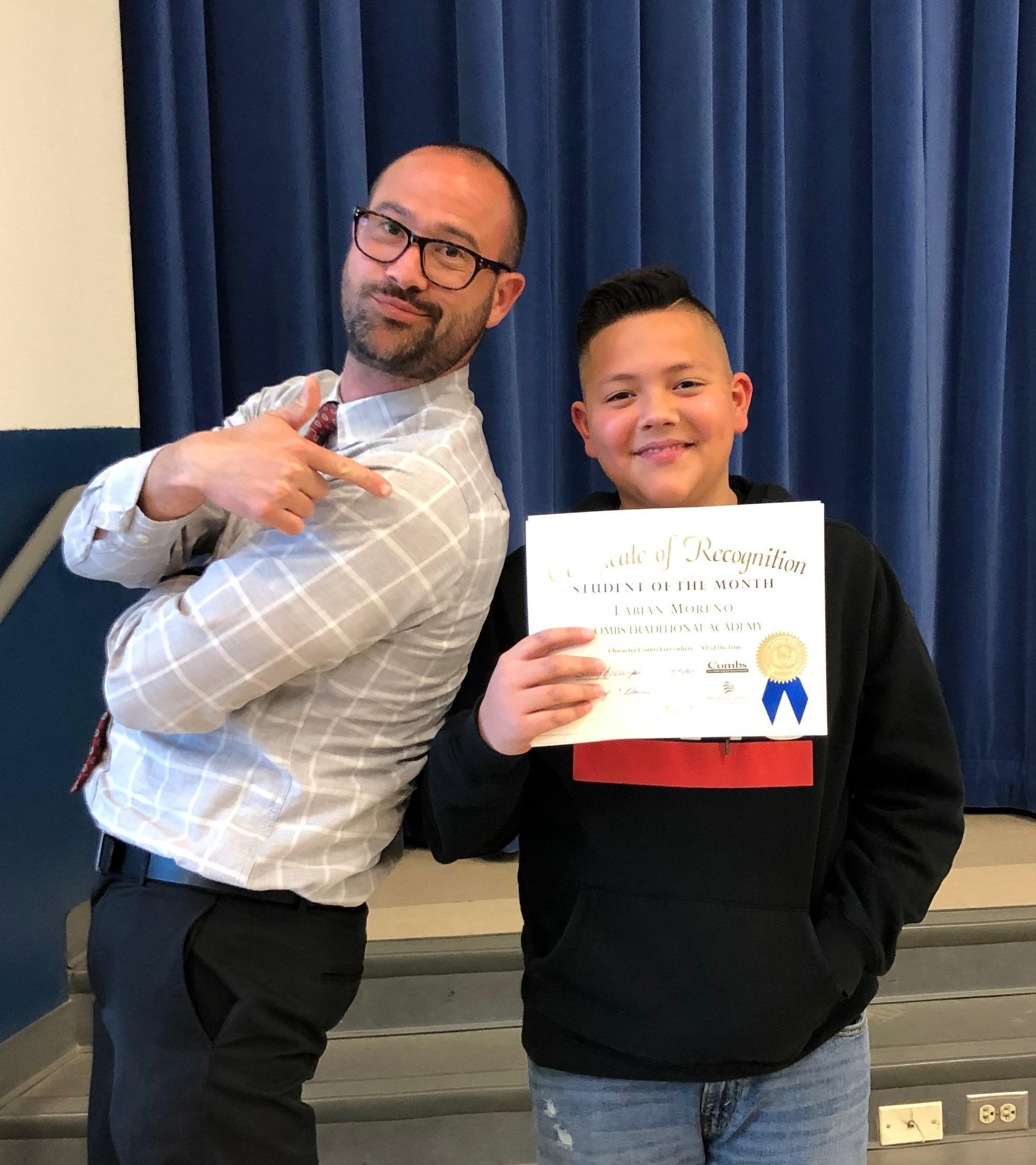 Fabian - April Student of the Month