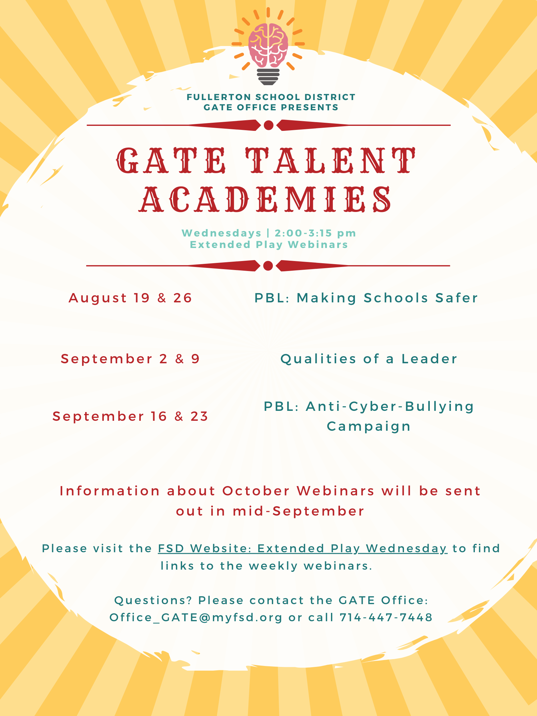 GATE Academy Flyer Page 1