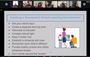 Creating a successful virtual learning environment slide