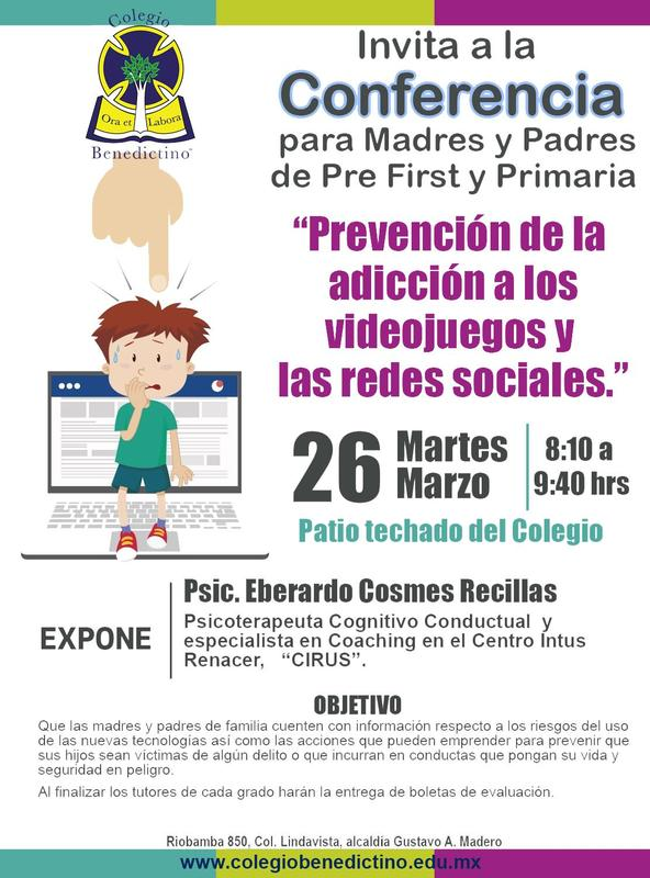Conferencia de Escuela para Padres y entrega de calificaciones de Pre First y Primaria, martes 26 de marzo de 2019. Featured Photo