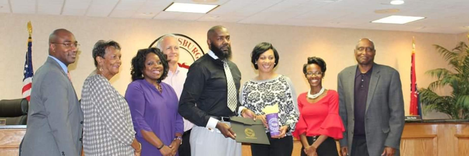 School Board Recognizes Elisha Barnes-Booth