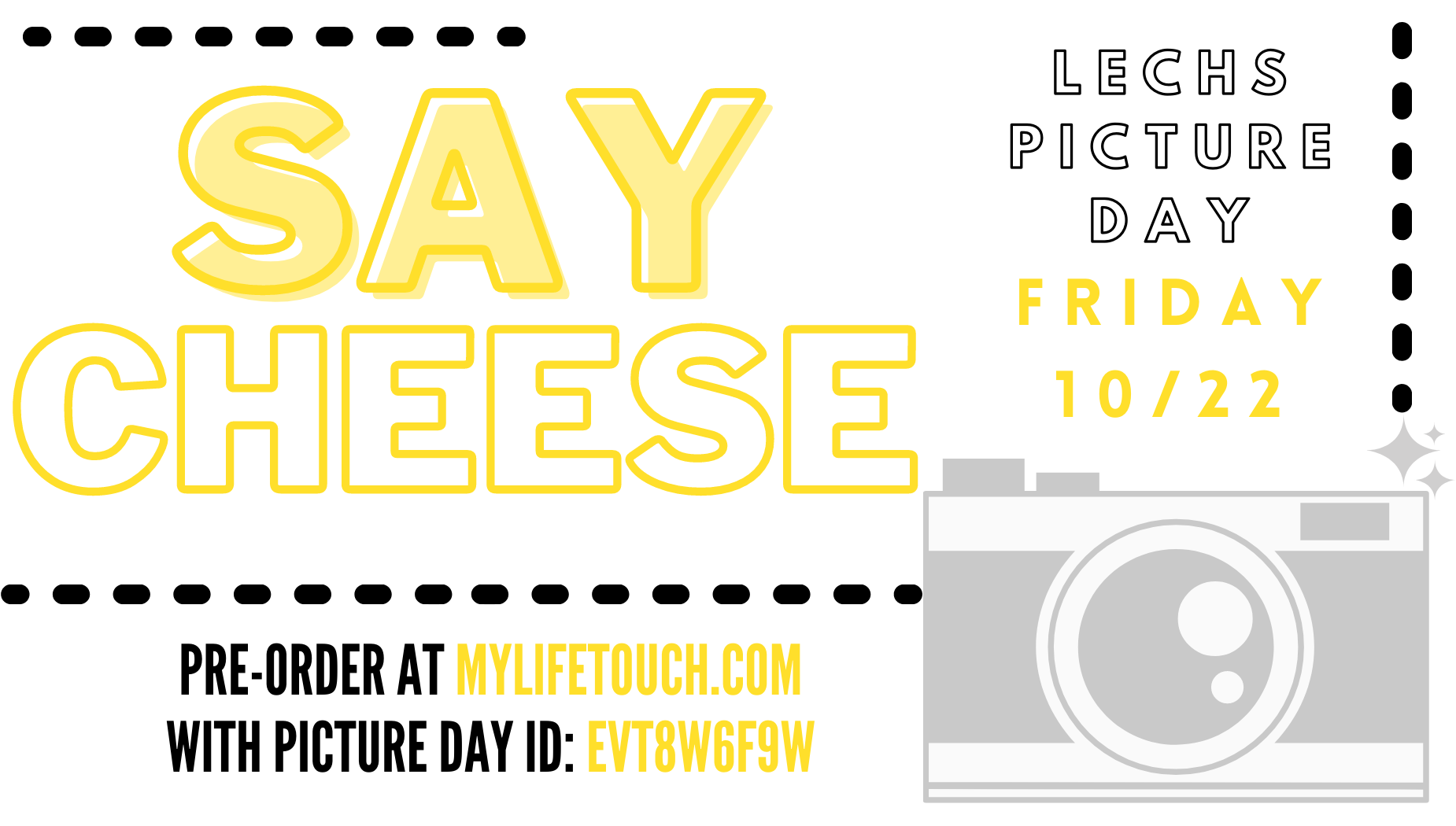 LECHS Picture Day Friday, 10/22, Pre-Order at mylifetouch.com