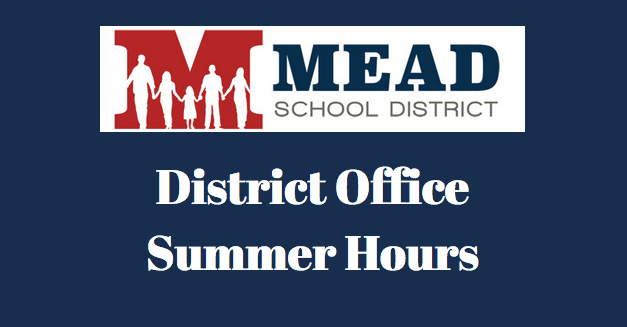 Summer hours listing for the district.