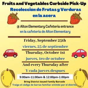 Fruits & Vegetables/Frutas y Verduras Featured Photo