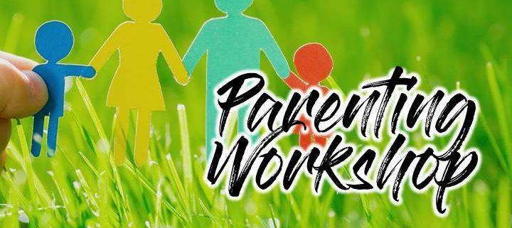 Paper cut out family and text reading Parenting Workshop