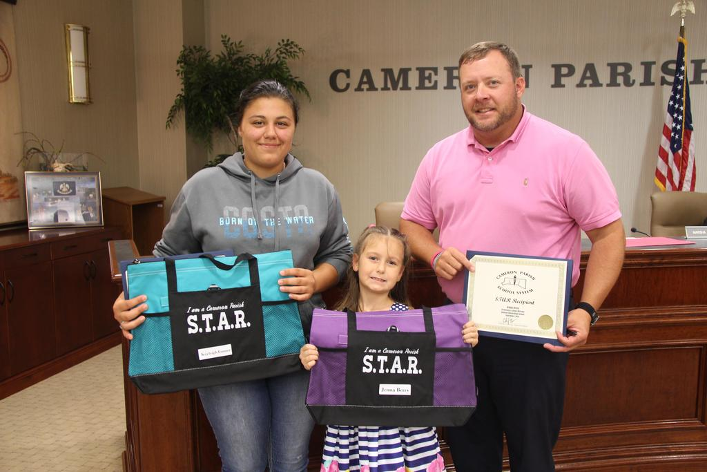 STAR winners at the October Board Meeting