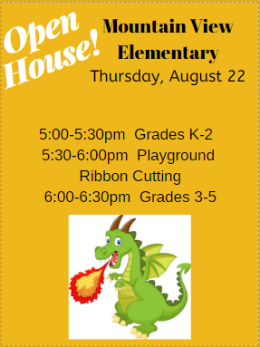 Open House is Thursday, August 22 Thumbnail Image