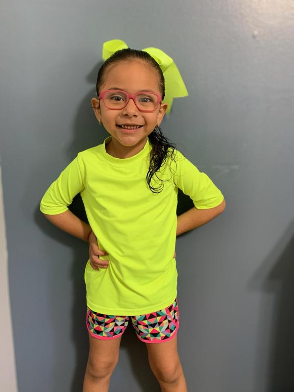 Emma participating in Neon Day