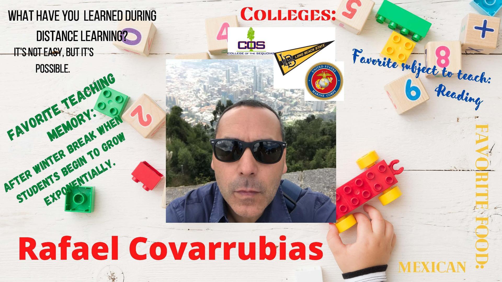 Mr. Covarrubias Staff Member of the week
