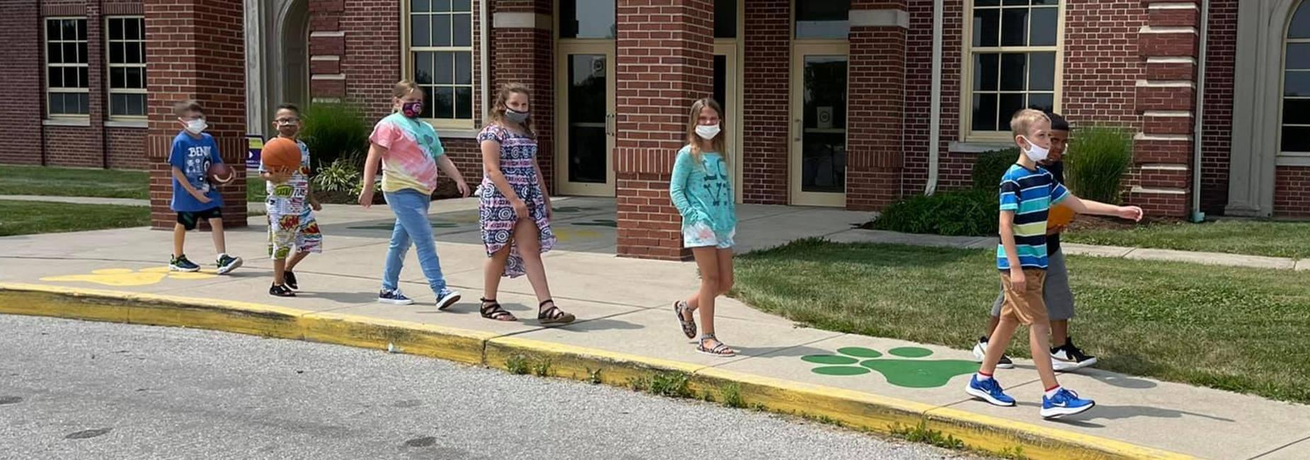 Fairview students on their way to recess!