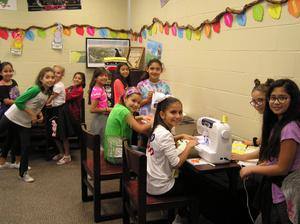 Some of our sewing club members