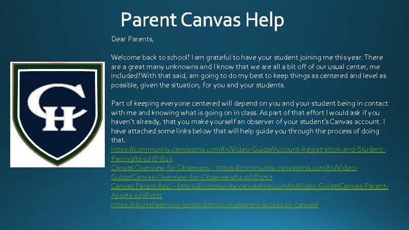 Parent Canvas Helps