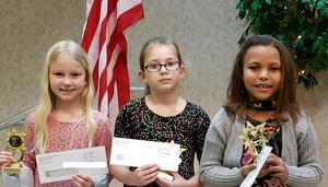 Soil and conservation district award winners 3 girls