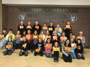 TKMS students of the month for September are honored.
