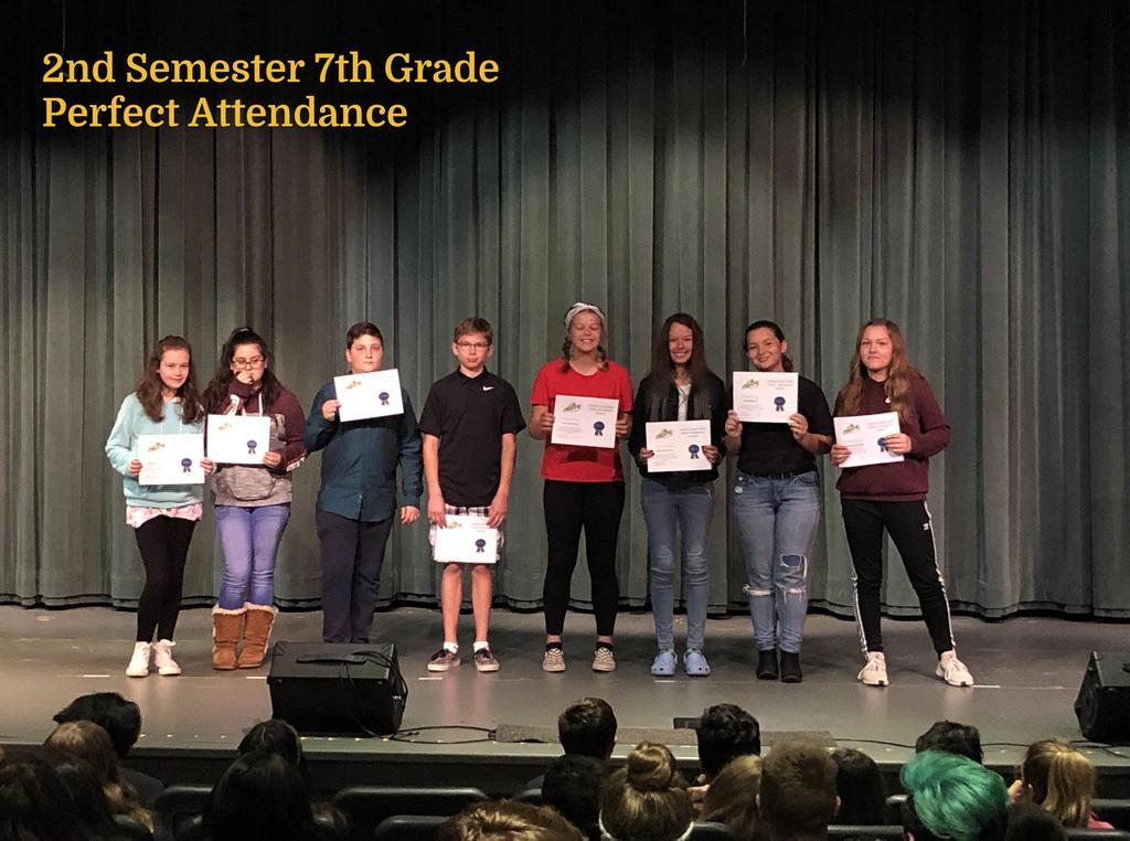 S2 7th Grade Perfect Attendance