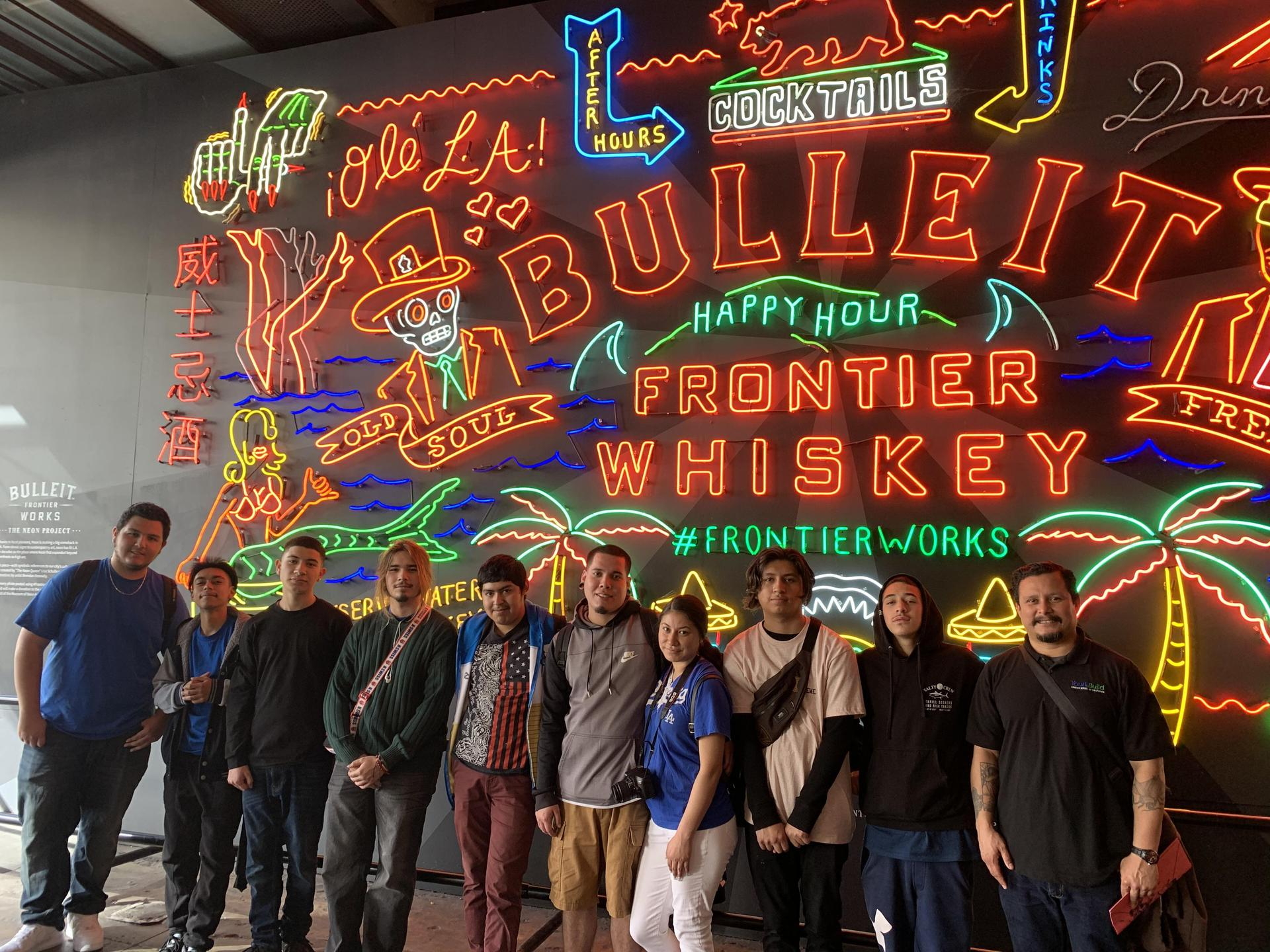El Monte photography students pose outside of Grand Central Market